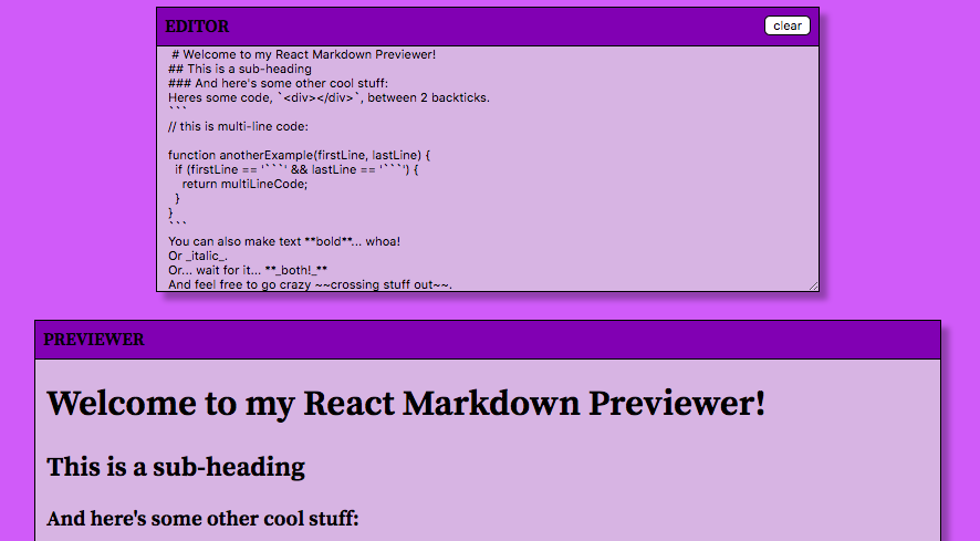 Markdown reviewer